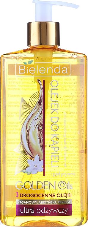 Ultra vyživový olej do kúpeľa a sprchy s drahými olejmi - Bielenda Golden Oils — Obrázky N1