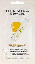 Voňavky, Parfémy, kozmetika Hydrolyzujúca maska s hydrolyzátom kvetov horkého pomaranča - Dermika Sheet Mask