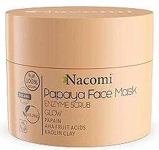 Voňavky, Parfémy, kozmetika Peelingová maska na báze bielej hliny - Nacomi Papaya Face Mask Enzyme Scrub