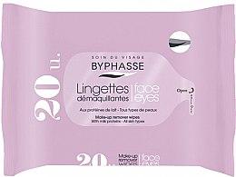 Voňavky, Parfémy, kozmetika Servítky na odstránenie make-upu, 20 ks - Byphasse Make-up Remover Milk Proteins All Skin Wipes