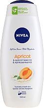"""Voňavky, Parfémy, kozmetika Sprchový gél """"Marhuľa"""" - Nivea Bath Care Shower Care&Apricot Seed Oil"""