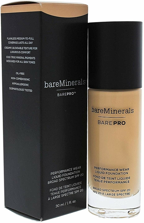 Make-up na tvár - Bare Escentuals Bare Minerals Barepro 24-Hour Full Coverage Liquid Foundation Spf20 — Obrázky N3