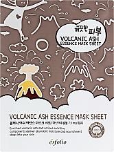 Voňavky, Parfémy, kozmetika Textilná maska so sopečným popolom - Esfolio Pure Skin Volcanic Ash Essence Mask Sheet