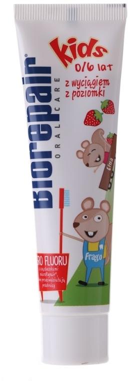 """Detská zubná pasta """"Veselá myš"""" - BioRepair Junior Topo Gigio Cartoon"""