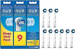 Voňavky, Parfémy, kozmetika Náhradné hlavice do elektrických zubných kefiek, 9 ks - Oral-B Precision Clean