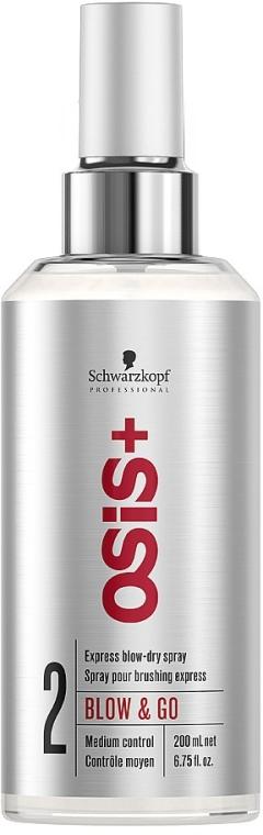 Sprej pre rýchle sušenie vlasov - Schwarzkopf Professional Osis+ Blow & Go Dry Spray