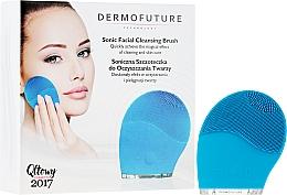 Voňavky, Parfémy, kozmetika Zvuková kefka na čistenie tváre, modrá - DermoFuture Sonic Facial Cleansing Brush