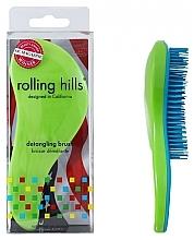 Voňavky, Parfémy, kozmetika Kefa na vlasy, zelená - Rolling Hills Detangling Brush Travel Size Shine Green
