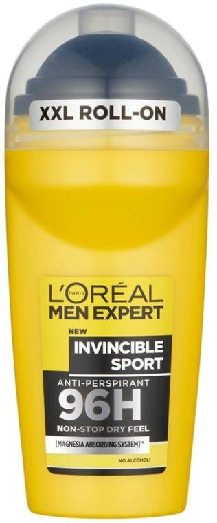 "Guľôčkový dezodorant ""Neporaziteľný šport"" - L'Oreal Paris Men Expert Invincible Sport 96H Roll On"