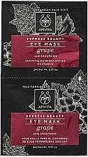 Voňavky, Parfémy, kozmetika Maska proti vráskam s hroznom na pokožku okolo očí - Apivita Express Beauty Eye Mask Grape