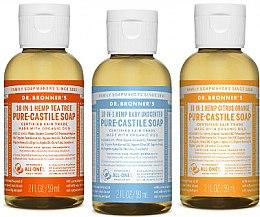 Voňavky, Parfémy, kozmetika Sada - Dr. Bronner's 18-in-1 Pure Castile Soap (soap/3x60ml)