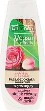 """Voňavky, Parfémy, kozmetika Lotion na telo """"Ruža"""" - Bielenda Vegan Friendly Regenerating Rose Body Balm"""