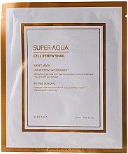Voňavky, Parfémy, kozmetika Hydrogélová maska so slimákovým mucínom - Missha Super Aqua Cell Renew Snail Hydro Gel Mask