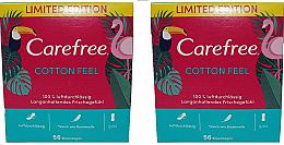 Voňavky, Parfémy, kozmetika Hygienické každodenné vložky 2X56 ks - Carefree Cotton Feel