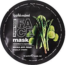 """Voňavky, Parfémy, kozmetika Maska na tvár """"Uhorka a špargľa"""" - Cafe Mimi Face Mask"""