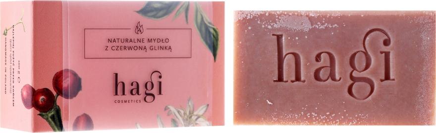Prírodné mydlo s červenou hlínou a rebríkom - Hagi Soap