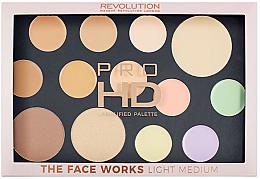 Voňavky, Parfémy, kozmetika Paleta pre tvár - Makeup Revolution Pro HD The Works Palette