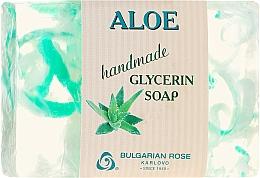 """Voňavky, Parfémy, kozmetika Glycerínové mydlo """"Aloe"""" - Bulgarian Rose Green Cherry Aloe Soap"""