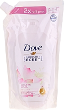 "Voňavky, Parfémy, kozmetika Tekuté mydlo na ruky ""Lotosový kvet"" - Dove Nourishing Secrets Glowing Ritual Hand Wash (doy pack)"