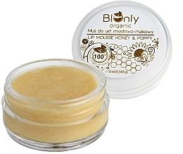 Voňavky, Parfémy, kozmetika Pena na pery s medom a makom - BIOnly Organic Lip Mousse Honey & Poppy