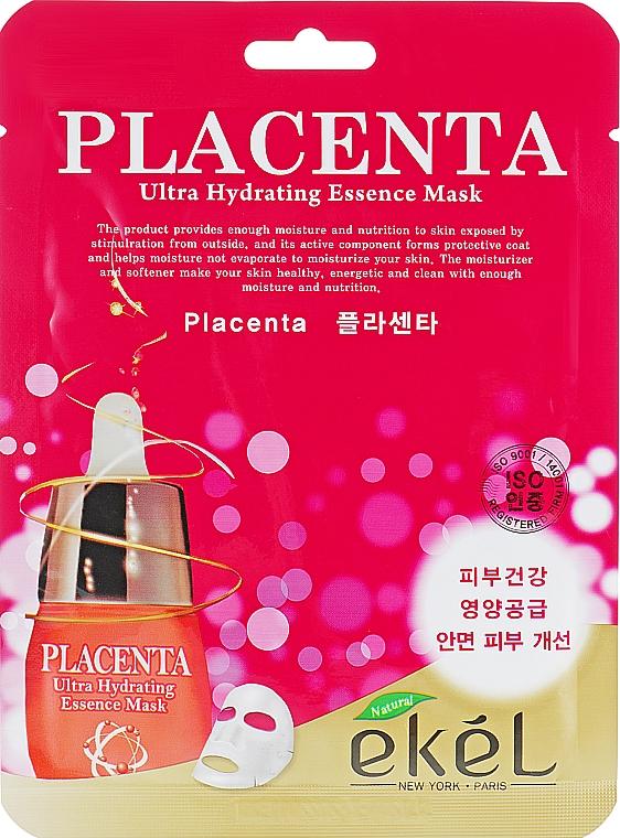 Anti-aging maska s placenty - Ekel Placenta Ultra Hydrating Essence Mask