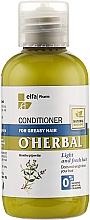 Voňavky, Parfémy, kozmetika Balzam-kondicionér na mastné vlasy s extraktom z mäty - O'Herbal
