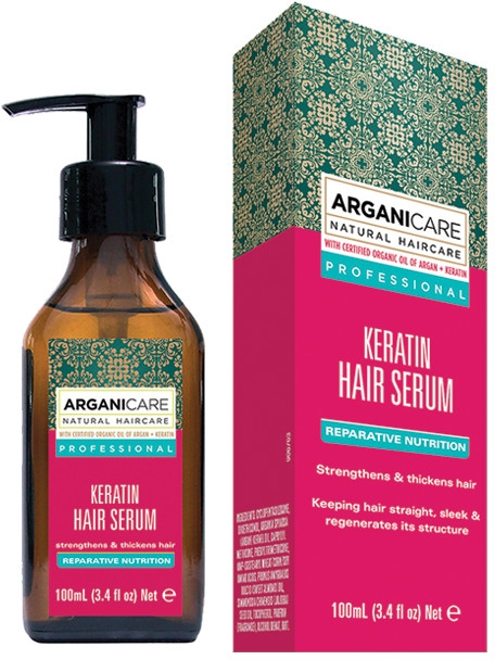 Keratínové sérum na vlasy - Arganicare Keratin Repairing Hair Serum