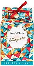 """Voňavky, Parfémy, kozmetika Vonná sviečka v sklenenej nádobe """"Honeysuckle"""" - Song of India Honeysuckle Candle"""