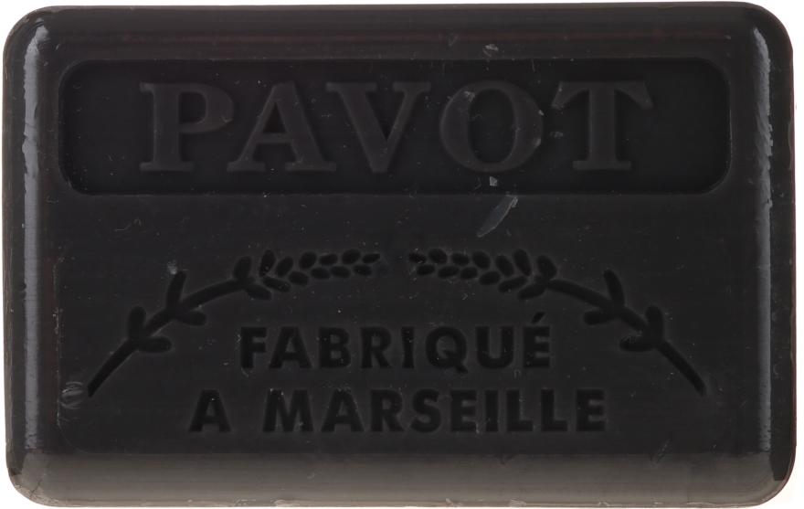 """Marselské mydlo """"Mak"""" - Foufour Savonnette Marseillaise Pavot"""