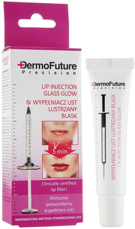 "Maximalizátor na pery ""Zrkadlový lesk"" - Dermo Future Glass Glow Lip Filler"