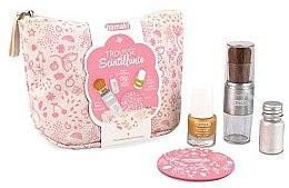 Voňavky, Parfémy, kozmetika Sada - Namaki Glitter Kit (polish/7.5ml+nail/powder/7g+brush+mirror+acc)