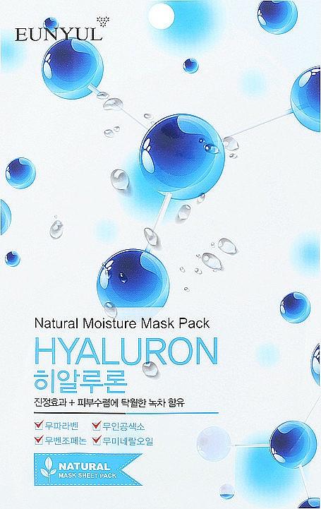 Textilná maska na tvár s kyselinou hyalurónovou - Eunyul Natural Moisture Hyaluron Mask Pack