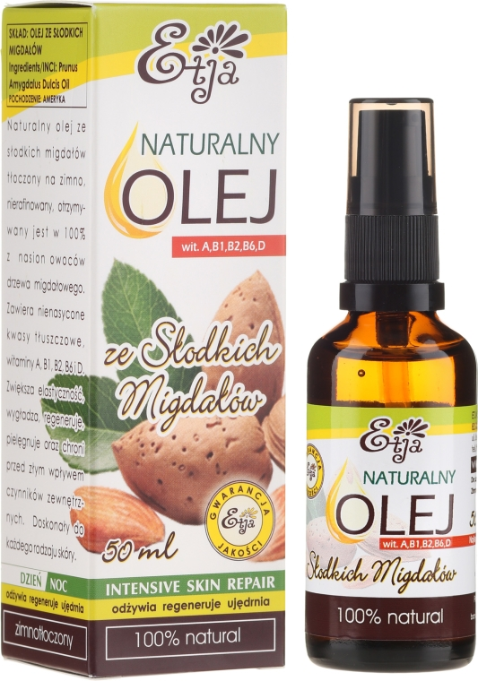 Prírodný mandľový olej - Etja