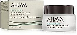 Voňavky, Parfémy, kozmetika Nočný regeneračný krém, vyrovnávajúci tón pleti - Ahava Age Control Even Tone Sleeping Cream