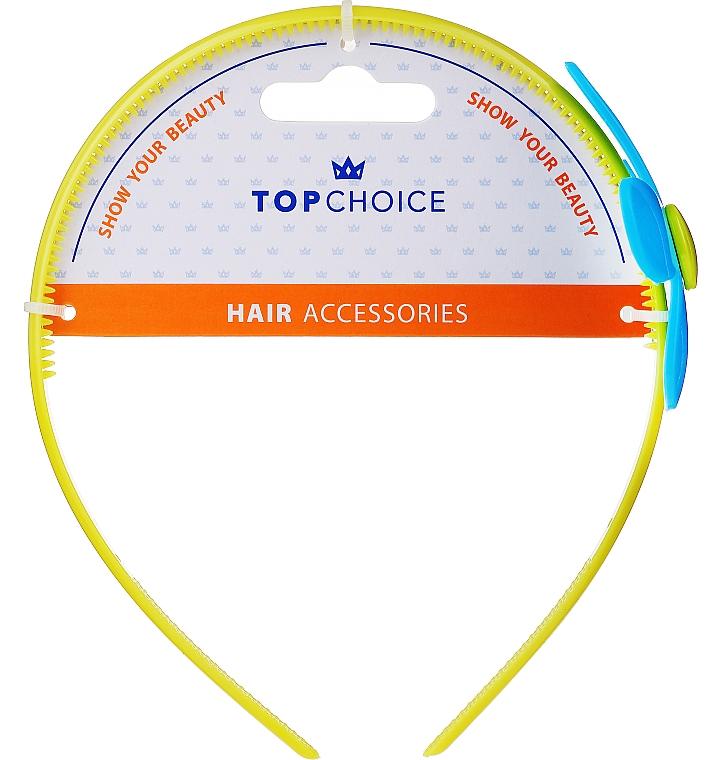 Obruč do vlasov 27864, žltý s modrým kvetom - Top Choice — Obrázky N1
