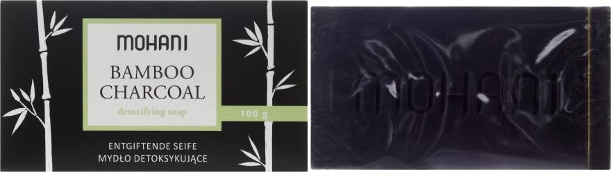Mydlo s bambusovými uhlím - Mohani Bamboo Charcoal Detoxifying Soap — Obrázky N1