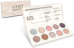 Voňavky, Parfémy, kozmetika Paleta očných tieňov - Affect Cosmetics Nude By Day Eyeshadow Palette
