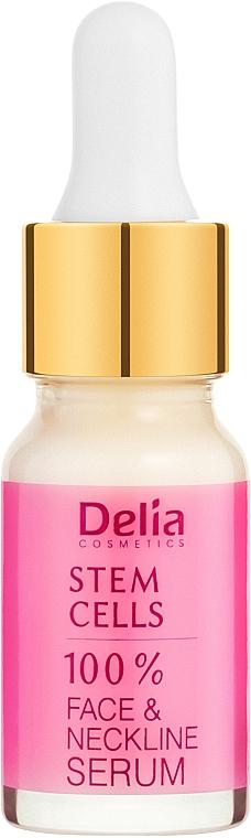 Intenzívne anti-aging sérum proti vráskam na tvár a krk s kmeňovými bunkami - Delia Face Care Stem Sells Face Neckline Intensive Serum