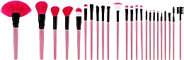 Voňavky, Parfémy, kozmetika Sada profesionálnych štetcov na líčenie, 24ks, ružové - Tools For Beauty