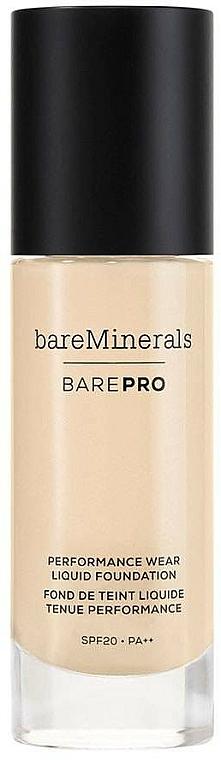 Make-up na tvár - Bare Escentuals Bare Minerals Barepro 24-Hour Full Coverage Liquid Foundation Spf20 — Obrázky N1