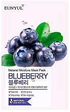Voňavky, Parfémy, kozmetika Textilná maska na tvár s čučoriedkovým extraktom - Eunyul Natural Moisture Blueberry Mask