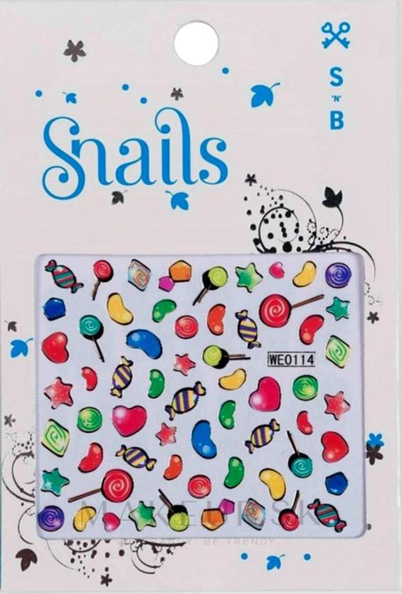 Nálepky na nechtový dizajn - Snails 3D Nail Stickers — Obrázky Candy Blast