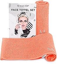 """Voňavky, Parfémy, kozmetika Cestovná sada uterákov na tvár, broskyňové """"MakeTravel"""" - Makeup Face Towel Set"""