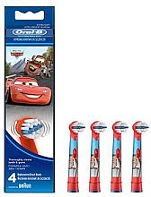 Voňavky, Parfémy, kozmetika Náhradné hlavice do detskej zubnej kefky EB10-4, autá - Oral-B Stages Power Disney
