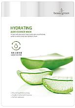 Voňavky, Parfémy, kozmetika Textilná maska s výťažkom šťavy z Aloe vera - BeauuGreen Hydrating Aloe Essence Mask