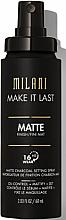Voňavky, Parfémy, kozmetika Sprejový primer na tvár - Milani Make It Last Matte Charcoal Setting Spray
