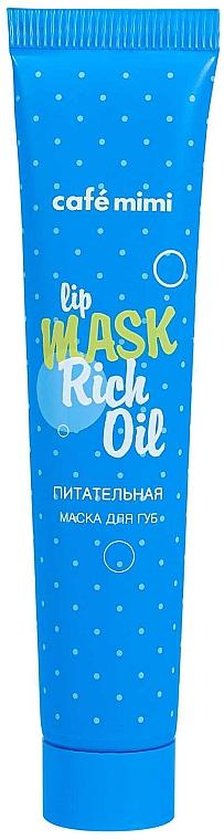 Výživná maska na pery - Cafe Mimi Lip Mask Rich Oil