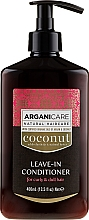 Voňavky, Parfémy, kozmetika Nezmazateľný kondicionér pre kučeravé a suché vlasy - Arganicare Coconut Leave-In Conditioner For Curly & Dull Hair