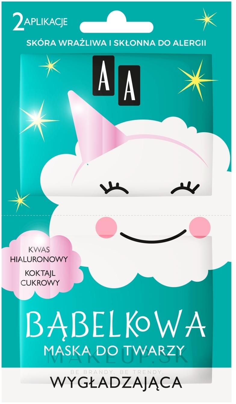 Bublinová maska na tvár, vyhladenie - AA Bubble Mask Smoothing Face Mask Sensitive — Obrázky 2 x 4 g