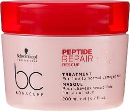 Voňavky, Parfémy, kozmetika Regeneračná maska pre tenké a normálne poškodené vlasy - Schwarzkopf Professional BC Bonacure Peptide Repair Rescue Treatment Mask
